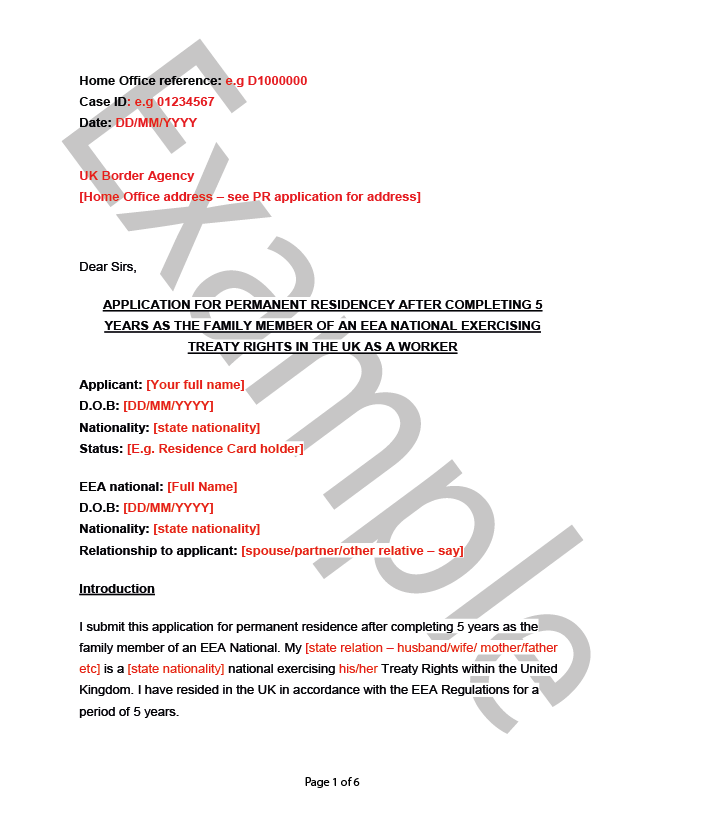 Cover Letter Example U2013 Worker